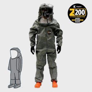 Kappler® Zytron® Z200 Level B Suit w/ Flat Back #Z2H371